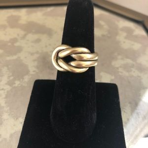 Premier Designs love knot ring. Antique gold.